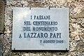 Pontito (Pescia), Monumento a Lazzaro Papi, targa.jpg