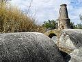 Pormenor do cano melhorado no sec. XIX do Aqueduto da Água da Prata.jpg