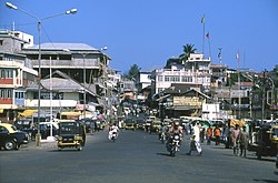 Centre of Port Blair in December 2004.