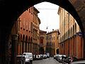 Portici di via Castiglione fotografati dall'arco del Torresotto.JPG