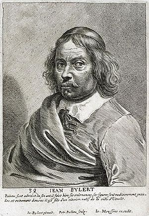 Jan van Bijlert - Jean Bylert,engraving by Pieter de Bailliu after a self-portrait 1649, Het Gulden Cabinet p 117