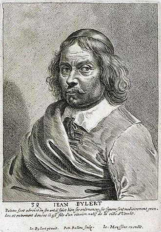 Jan van Bijlert - Jean Bylert,engraving by Pieter de Bailliu after a self-portrait 1649, Het Gulden Cabinet p 117