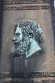 Portrait head of Alexander Smith (poet) on his grave, Warriston Cemetery, Edinburgh.JPG