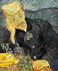 Portrait du Dr Gachet avec branche de digitale