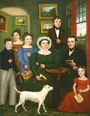 Portrait of an Unknown Family with a Terrier