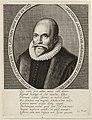 Portret van de predikant Jacob Arminius op 49-jarige leeftijd, in ovaal met randschrift. NL-hlmNHA 1477 53009250.JPG