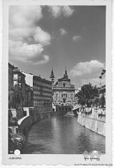 Postcard of Ljubljana, Franciscan church (8).jpg