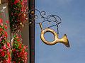 Posthorn, Inn sign, Murnau, Bavaria, Germany.jpg