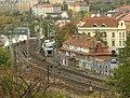 Praha, Vinohrady, Nuselské schody, železniční odbočka na Smíchov.jpg