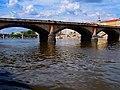 Praha - Vltava - View NE to Palackého most.jpg