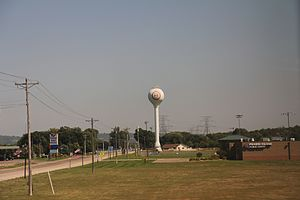 Prairie Island Indian Community - The water tower for the Prairie Island Indian Community.