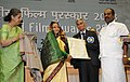 Pratibha Devisingh Patil presenting the Dada Saheb Phalke Award for the year 2008 to the legendary Cinematographer, Shri V.K. Murthy, at the 56th National Film Awards function, in New Delhi on March 19, 2010 (1).jpg