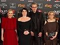 Premios Goya 2018 - Cristina Cifuentes, Nora Navas, Mariano Barroso y Manuela Carmena.jpg