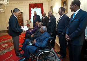 Memphis sanitation strike - President Obama met former members of the strike in 2011