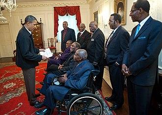 Memphis sanitation strike - President Obama met former members of the strike in 2011