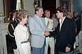 President Ronald Reagan greets Johnny Depp while Nancy Reagan looks on.jpg