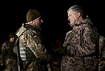 President of Ukraine Petro Poroshenko congratulated Ukrainian warriors on New Year and Christmas and heard the report on the situation in the ATO area, 31 December 2016 (26).jpg