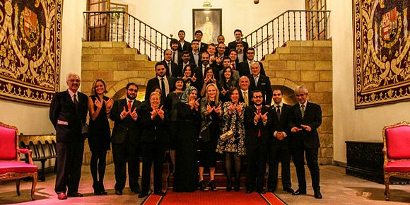 Princess of Asturias awards 2015 - Wikimedia España members, Wikipedia editors and representatives.jpg