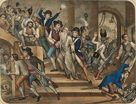 バスティーユ城の人々(フランス革命博物館)。