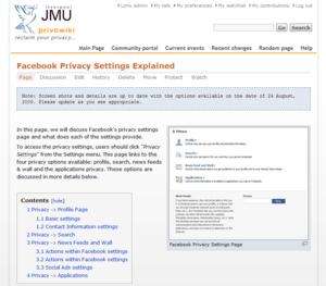 Privowiki main page screenshot