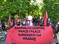Pro-workers banner a the demonstration in Poland.jpg