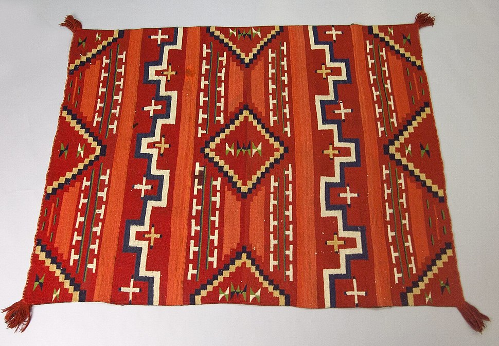 Probably Bayeta-style Blanket with Terrace and Stepped Design, 1870-1880, 50.67.54