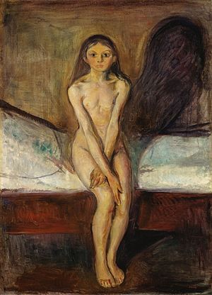 Puberty (Munch painting) - Image: Puberty (1894 95) by Edvard Munch