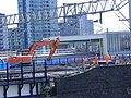 Pudding Mill Lane DLR station demolition - 14184069026.jpg