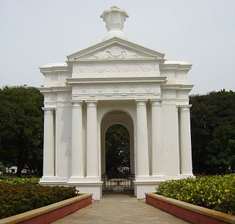 Aayi Mandapam (monument) - Park Monument (Aayi Mandapam) in the Government Park of Pondicherry