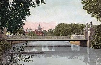 Puente Colgado (Aranjuez) - Image: Puende Colgante de Aranjuez 1830 Bambrilla