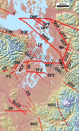 Puget Sound faults - Image: Puget Sound faults