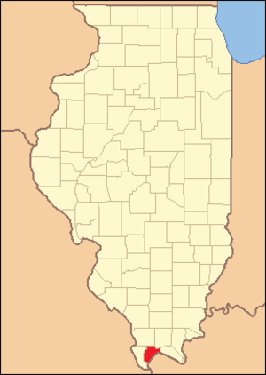 Pulaski County, Illinois - Image: Pulaski County Illinois 1843