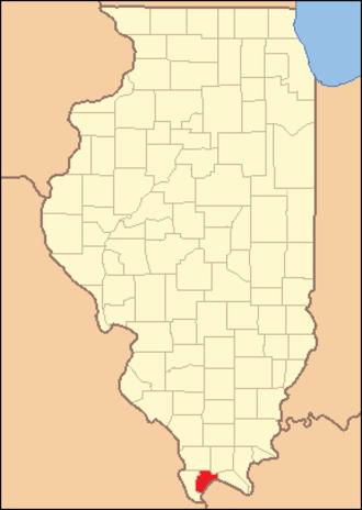 Pulaski County, Illinois - Image: Pulaski County Illinois 1843