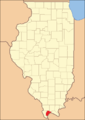 Pulaski County at the time of its creation in 1843
