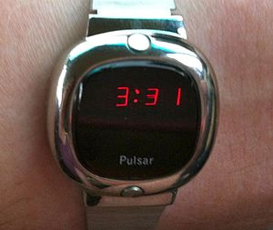 Pulsar (watch) - A Pulsar LED watch from 1976