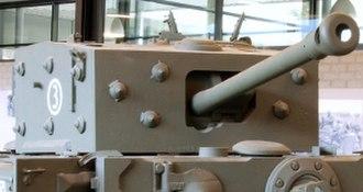 Ordnance QF 75 mm - Gun on Cromwell tank at Overloon War Museum, Netherlands