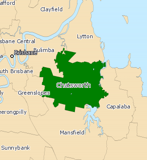 Electoral district of Chatsworth - 2008 Electoral map