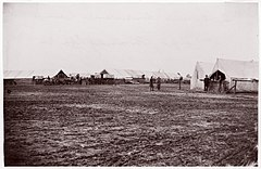 Quartermaster and Ambulance Camp, 6th Corps, Brandy Station, Virginia MET DP70645.jpg
