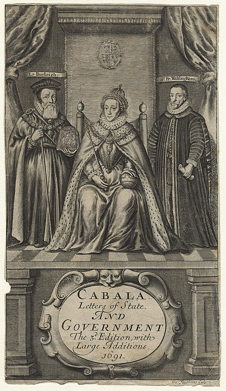 File:Queen Elizabeth I; William Cecil, 1st Baron Burghley ...
