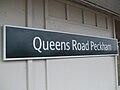 Queens Road Peckham stn signage.JPG