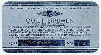 Quiet Birdmen Wikipedia