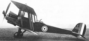 Royal Aircraft Factory R.E.8 - Early production R.E.8 with original small vertical fin.