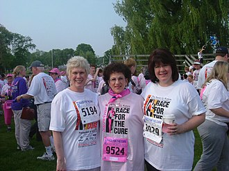 Susan G. Komen for the Cure - A group participating in a Komen Race for the Cure event