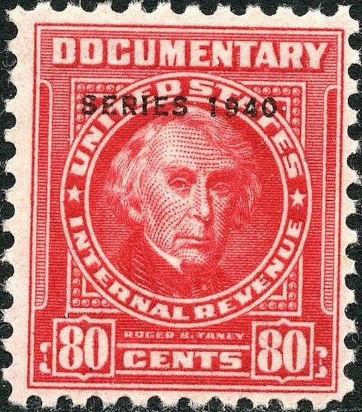 File:RB Taney revenue 80c 1940 issue R299.jpg
