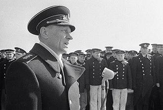 Order of Nakhimov - Admiral Nikolai Amel'ko, a recipient of both classes of the Order of Nakhimov