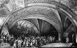 Bolşoy Tiyatrosu'nda ilk resmin üretimi (1952)