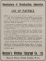 Radio Times - 1923-10-26 - page 168 (Marconi).png