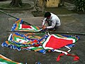 Raising traditional flags Tet 2011.jpg