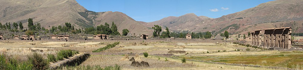 Raqchi archaeological site Peru (overview).jpg