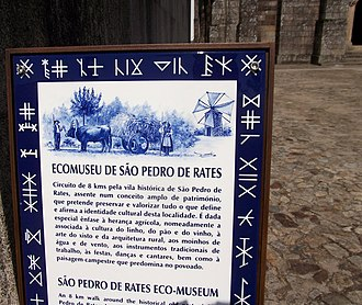 Rates Ecomuseum - An information plate along the route